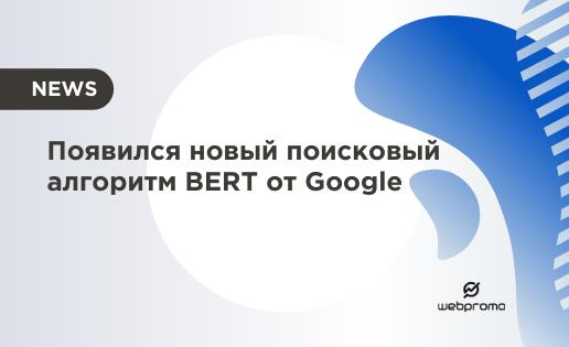 Появился новый поисковый алгоритм BERT от Google